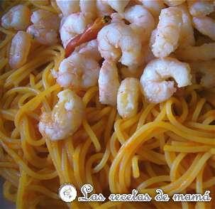 Espaguetis con gambas – Spaghetti frutti di mare