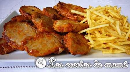 Tacos de lomo ibérico en salsa de cebolla y vino | Las Recetas de Mamá