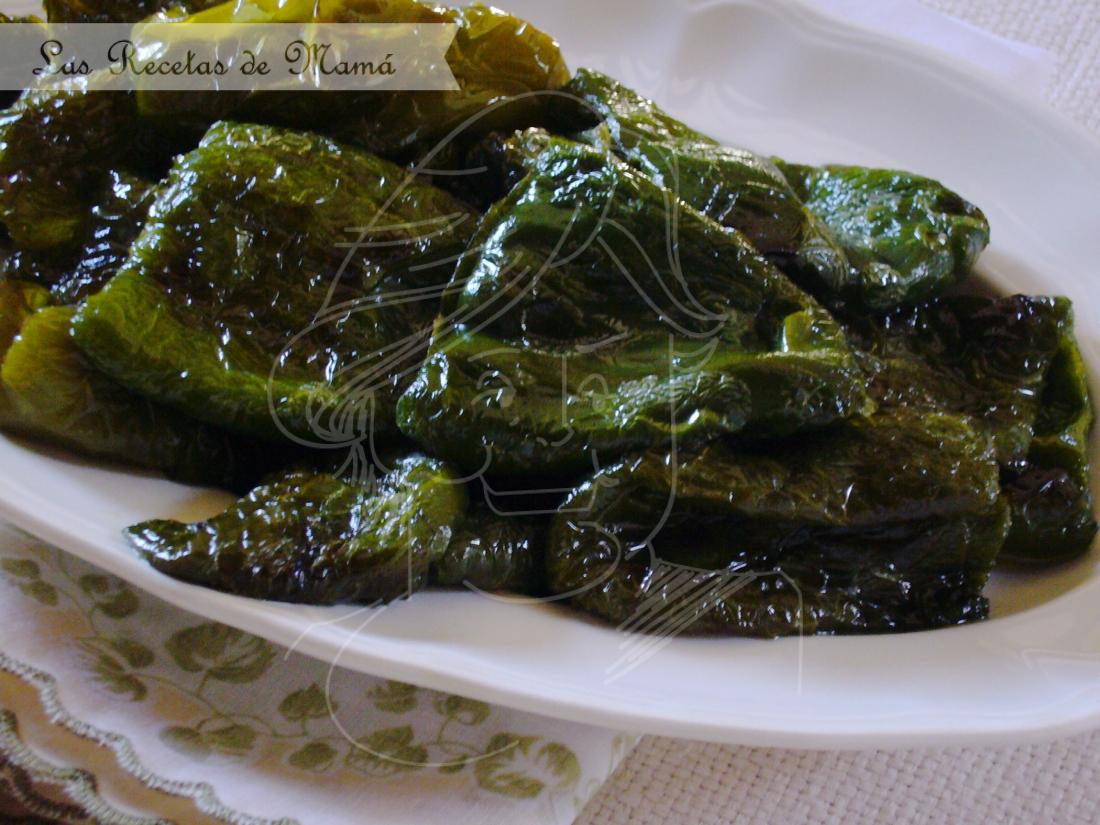 Pimientos verdes fritos