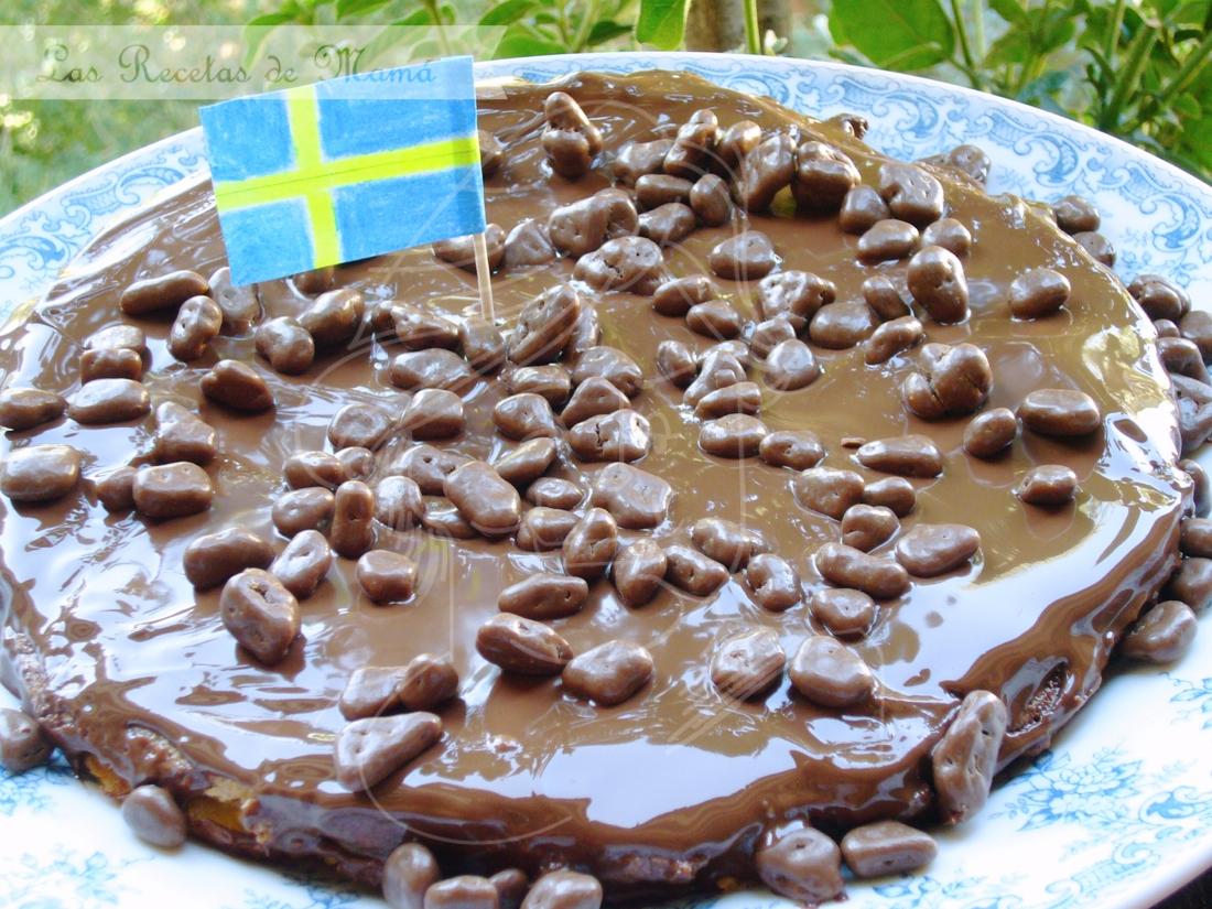 Tarta sueca de almendras y Daim