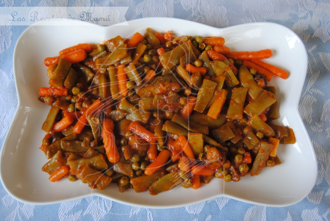 Menestra las recetas de mam - Menestra de verduras en texturas ...