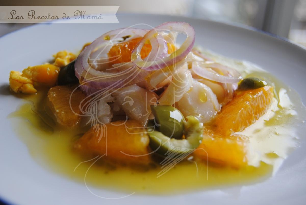 Ensalada molinera de bacalao y naranja