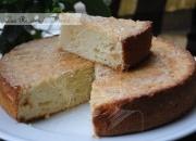 Bizcocho de queso cremoso  y vainilla