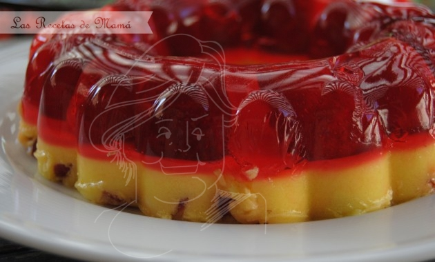 Aspic de fresas bicolor