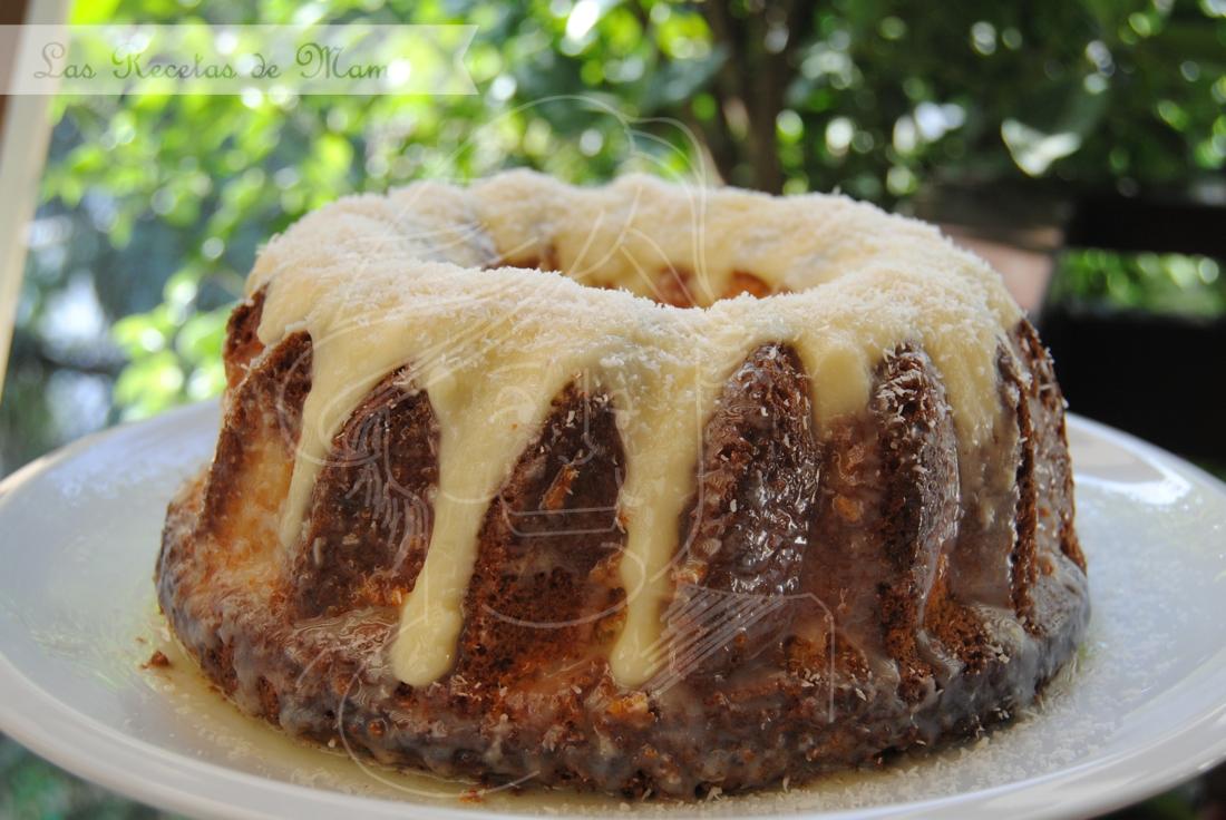 Pastel bombón de coco