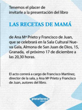 Presentación del libro en Granada