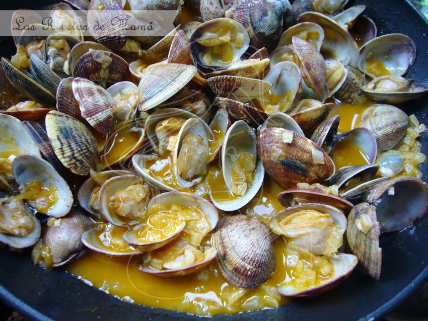 Video receta de almejas a la marinera
