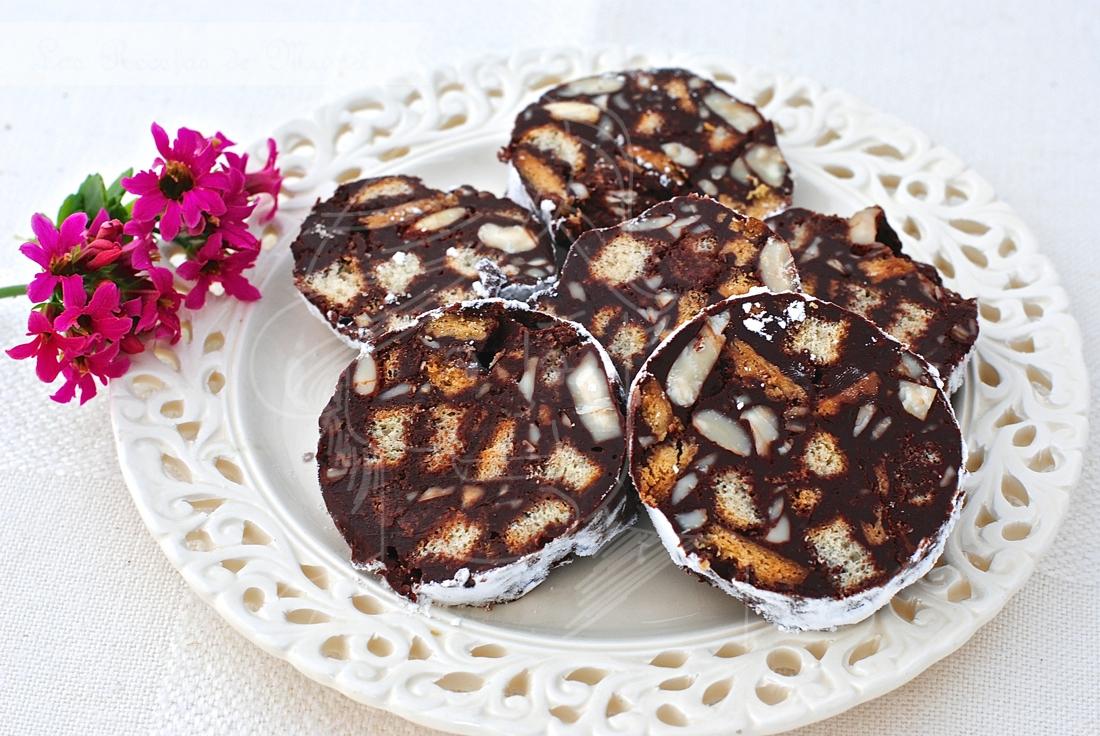Video receta de salchichón de chocolate