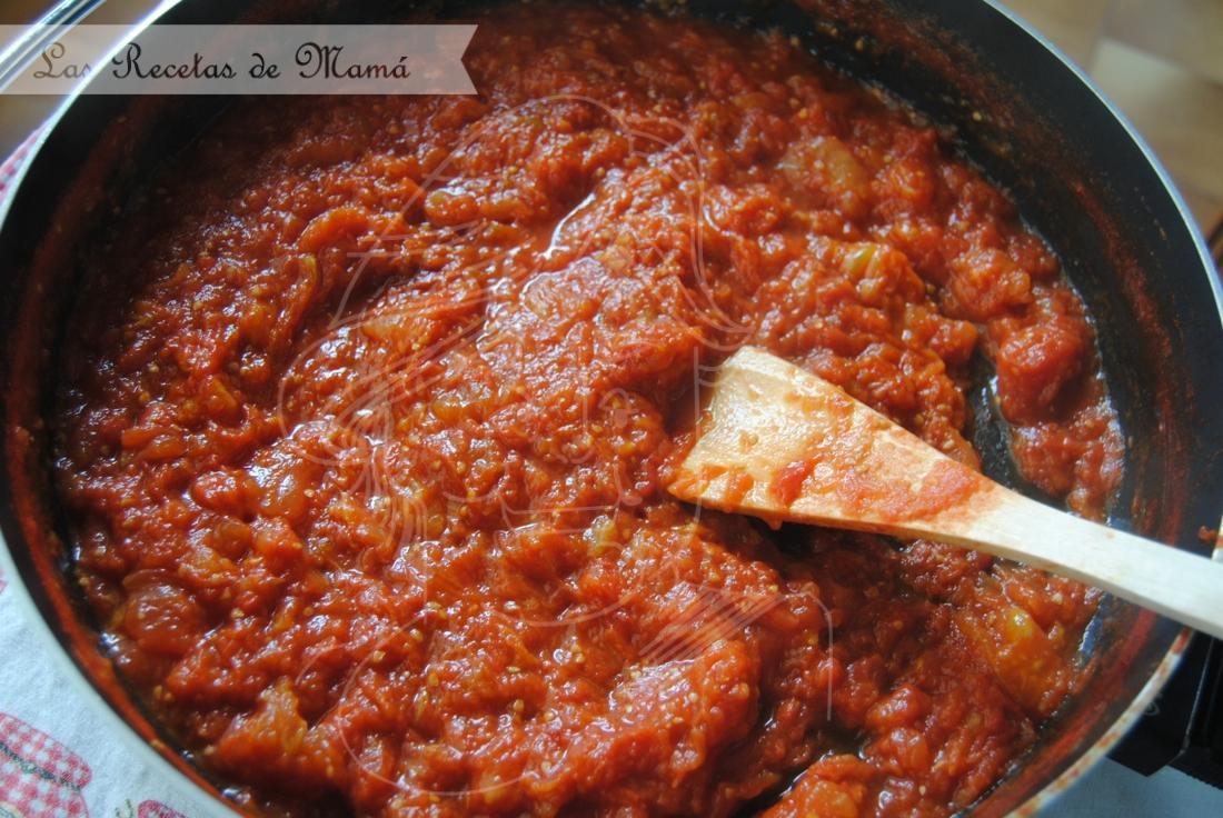 Salsa de tomate – tomate frito casero