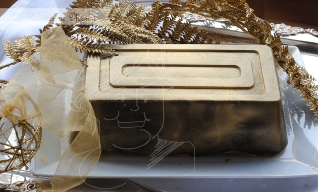 Turrón de chocolate / lingote de oro