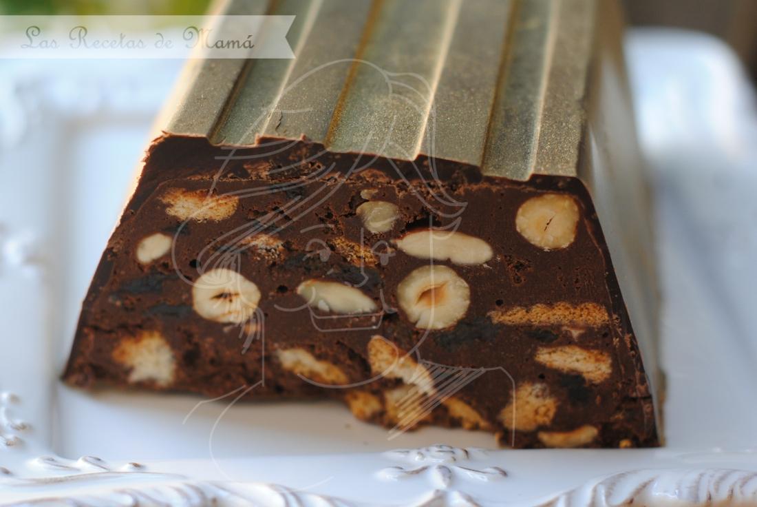 Turron de chocolate / lingote de oro: El corte
