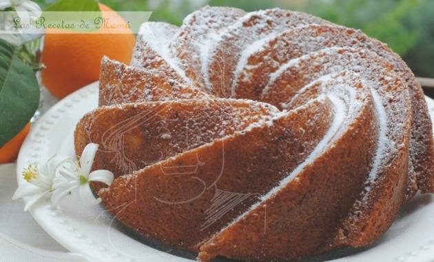 Bizcocho de naranja especial. Bundt cake