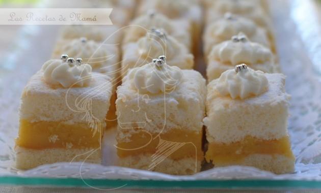Bizcochitos con crema de limón