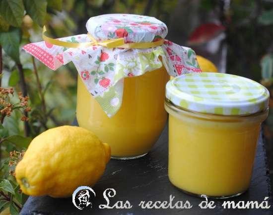 Cuajada o crema de limón