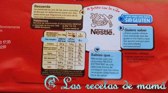 chocolate Nestlé sin gluten