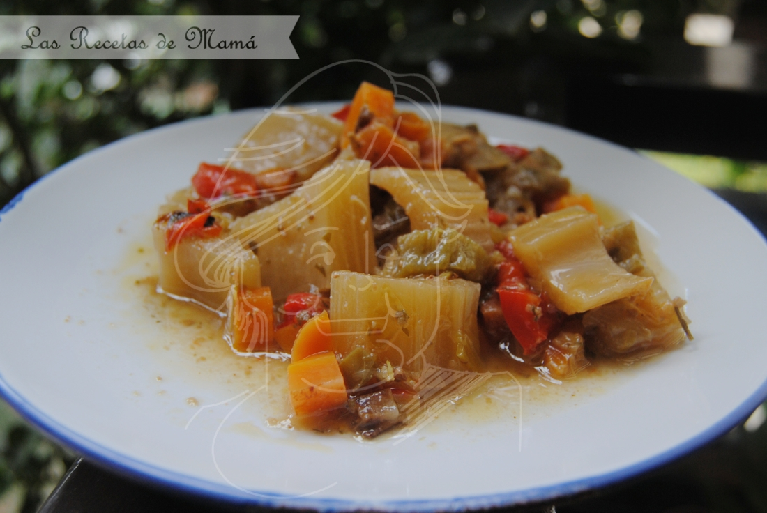 Estofado de cardos con verduras