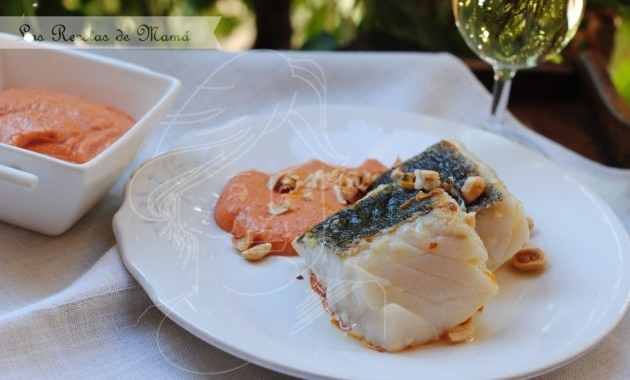 Bacalao con salsa romescu
