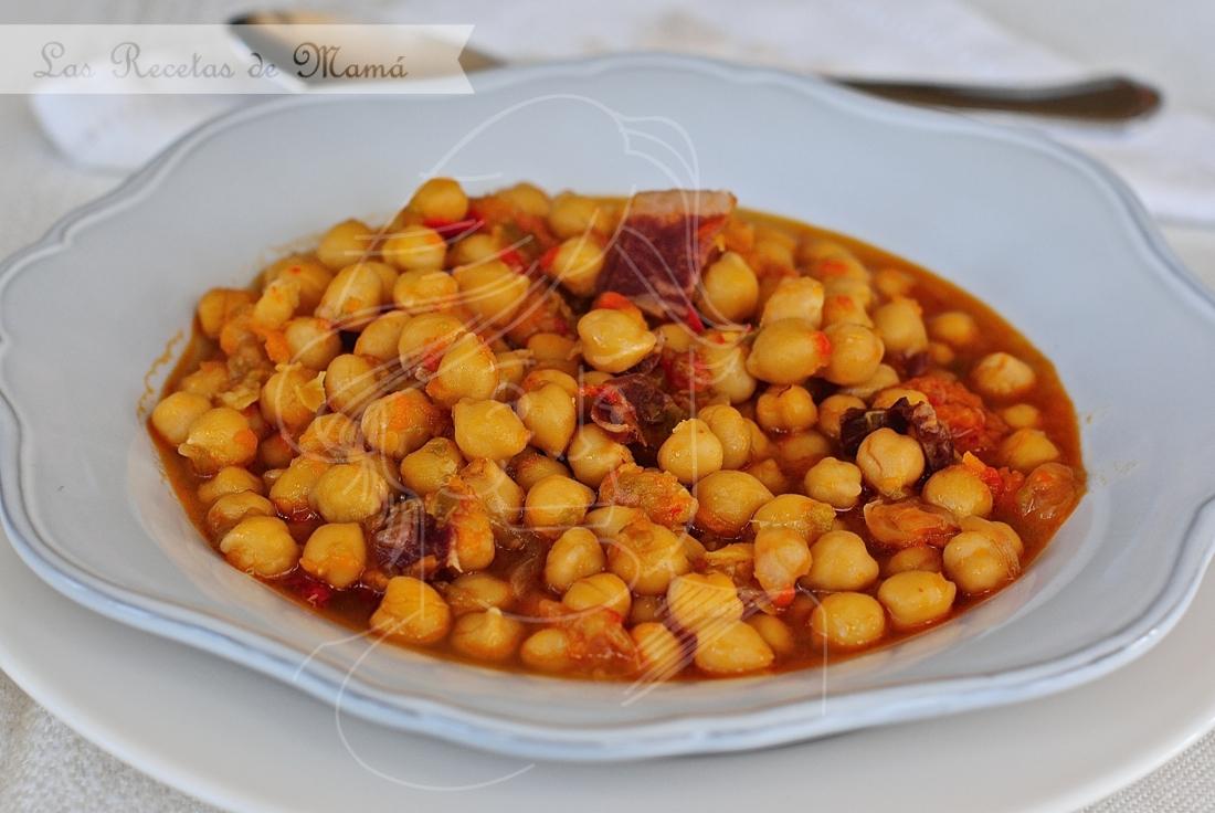 Potaje de garbanzos con paleta ib rica las recetas de mam - Preparacion de garbanzos cocidos ...