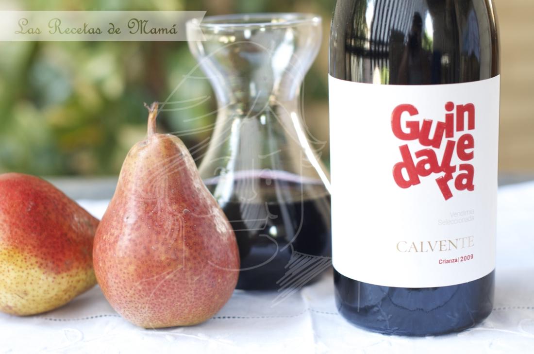 Trata de chirimoya y compota de peras al vino Guindalera