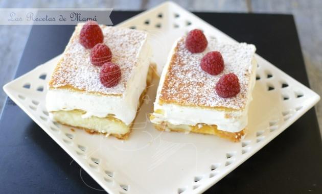 Milhojas de crema y merengue
