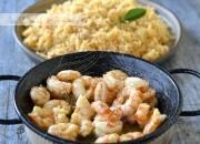 Arroz Thai al curry rojo con gambas a la miel