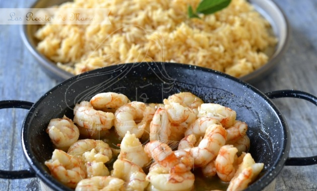 Arroz Thai al curry rojo con gambas a la miel