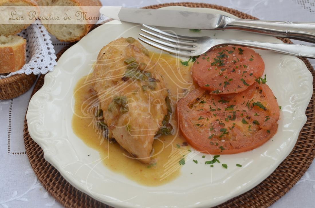 Pollo en salsa. Video receta.