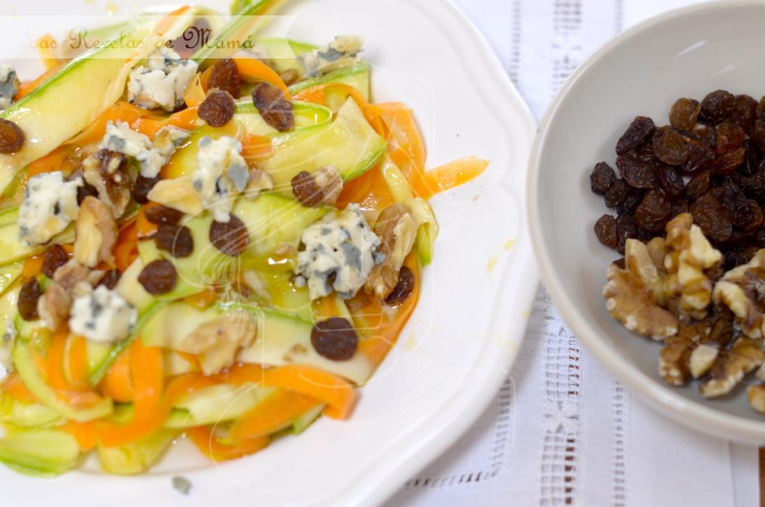 Linguini de verduras en ensalada
