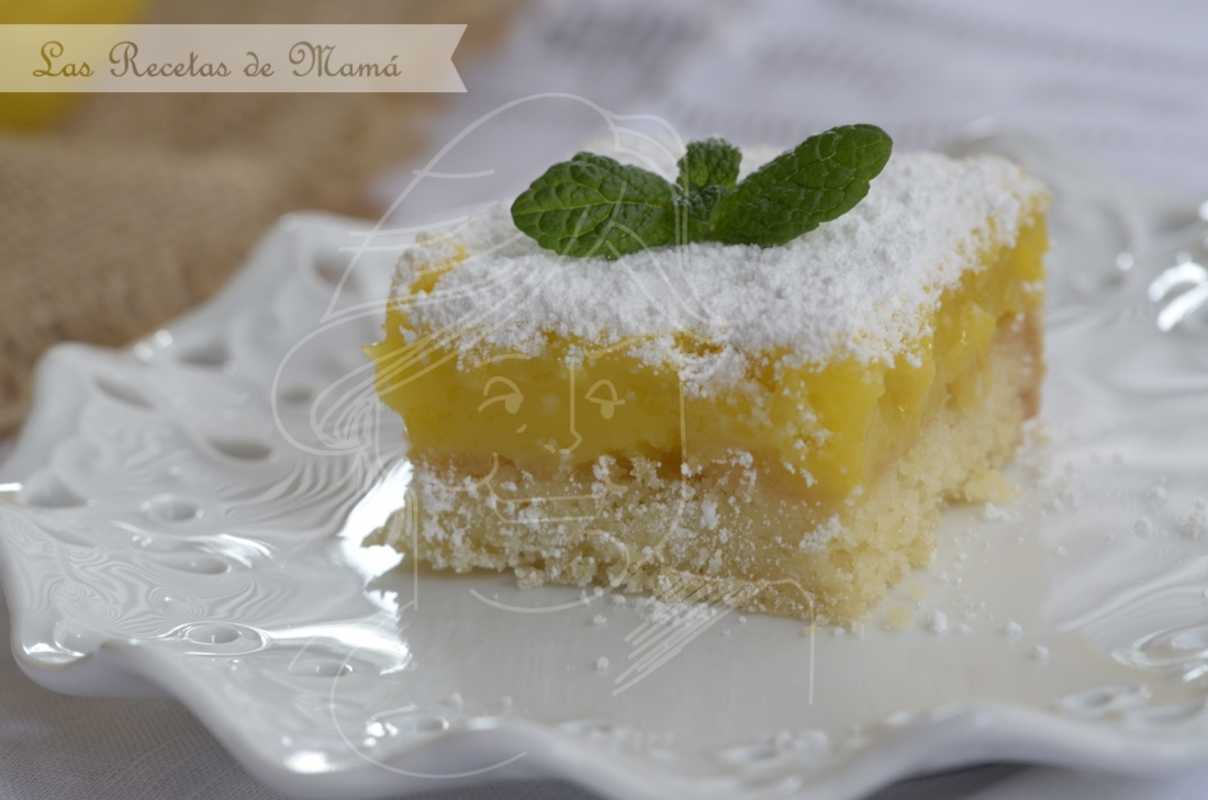 Lemon bars – cortadillos de limón. Video receta.