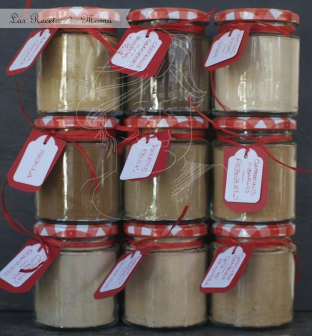 Harina de setas en tarros