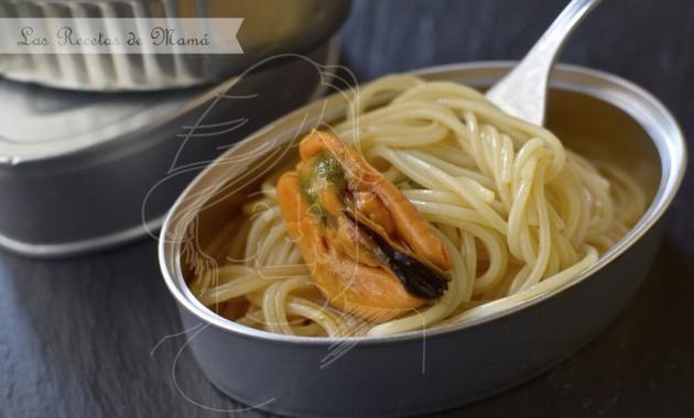 Receta de mejillones en escabeche con espagueti