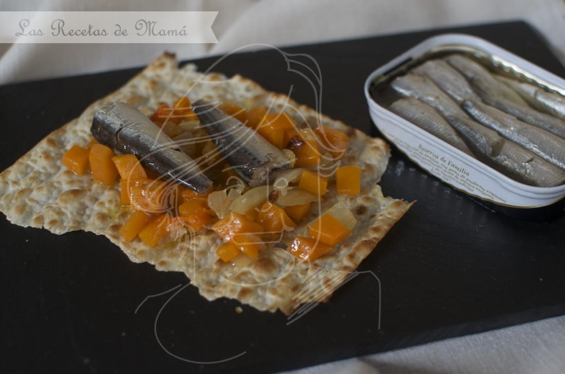 Salteado de calabaza con sardinillas