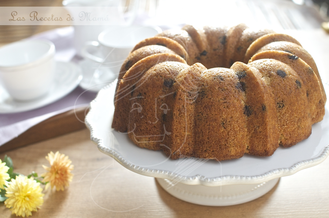 Bund cake con chip de chocolate y whisky. Video receta