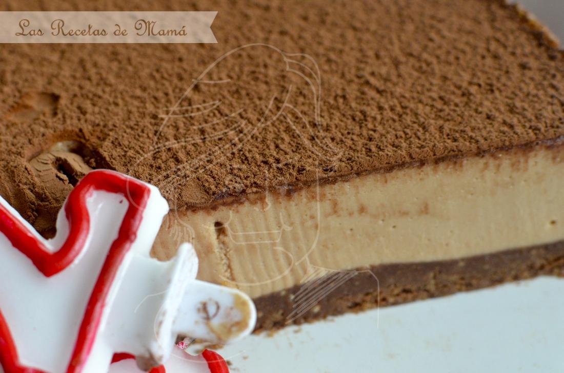tarta de queso con toffee y chocolate