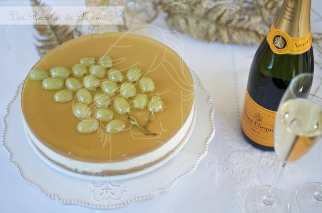 Tarta gelatina de PX con uvas