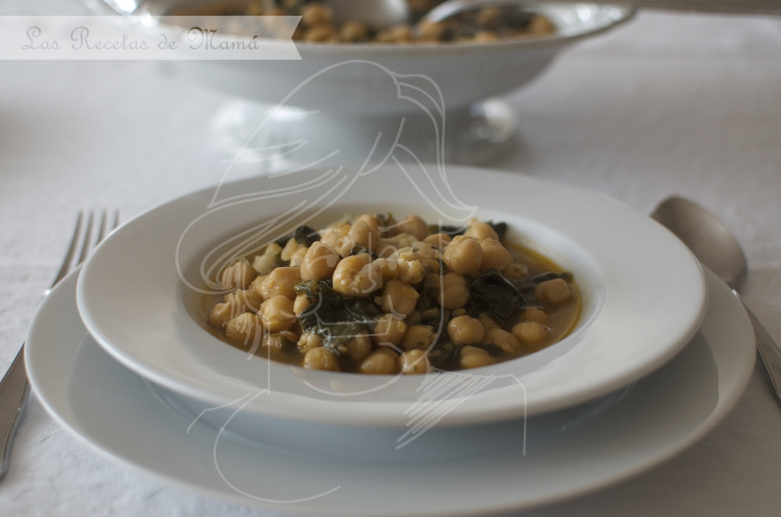 Potaje de garbanzos en olla rápida. Video receta