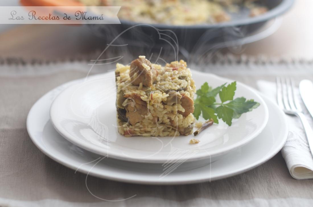 Arroz con pollo y verduras. Video receta