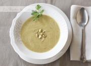 Crema de puerros y pistachos. Video receta