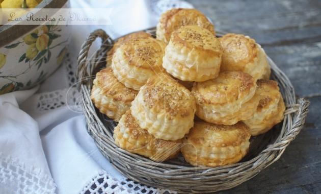 Como hacer pasteles de hojaldre rellenos. Video Receta