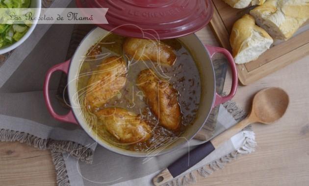 Pollo agridulce en Cocotte. Video receta