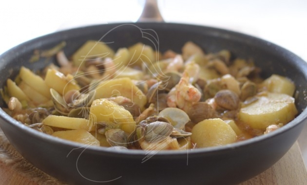 Cazuela marinera. Video receta