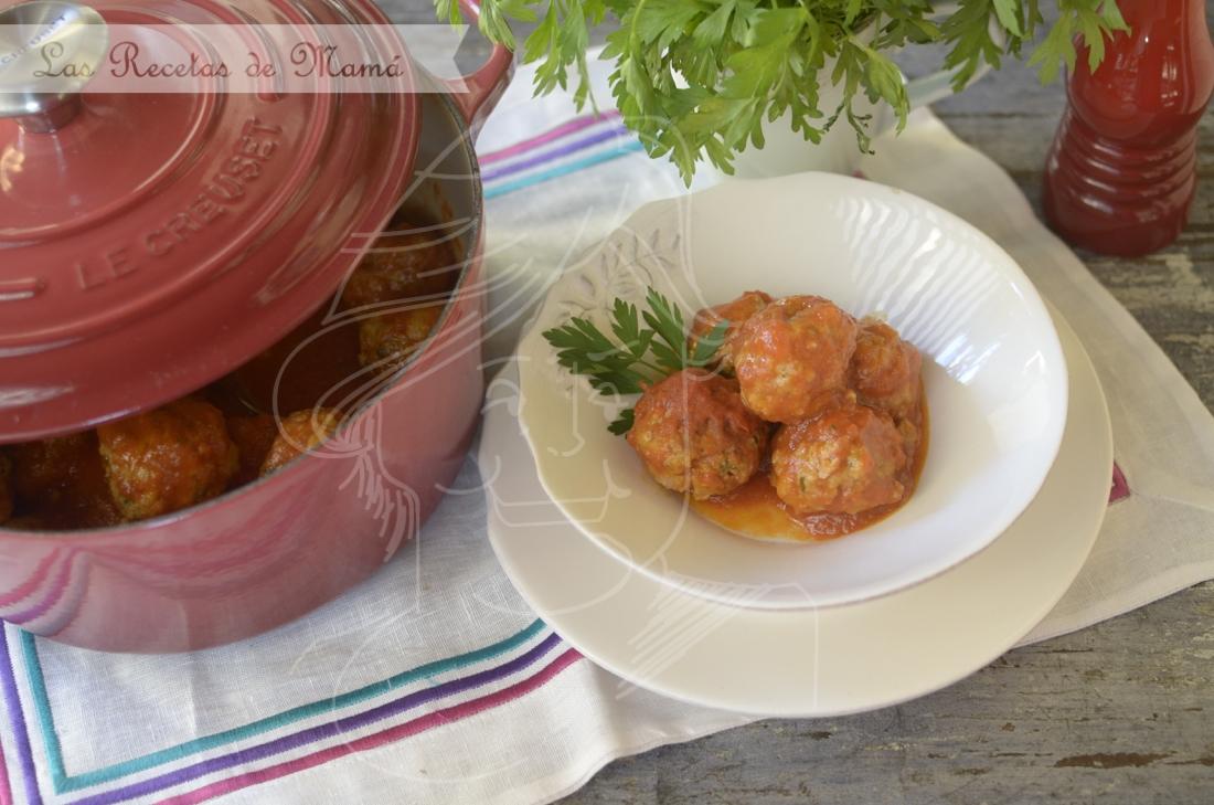 Albóndigas con tomate.