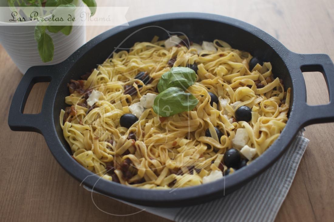 Tallarines con Gorgonzola y Jamón. Video receta