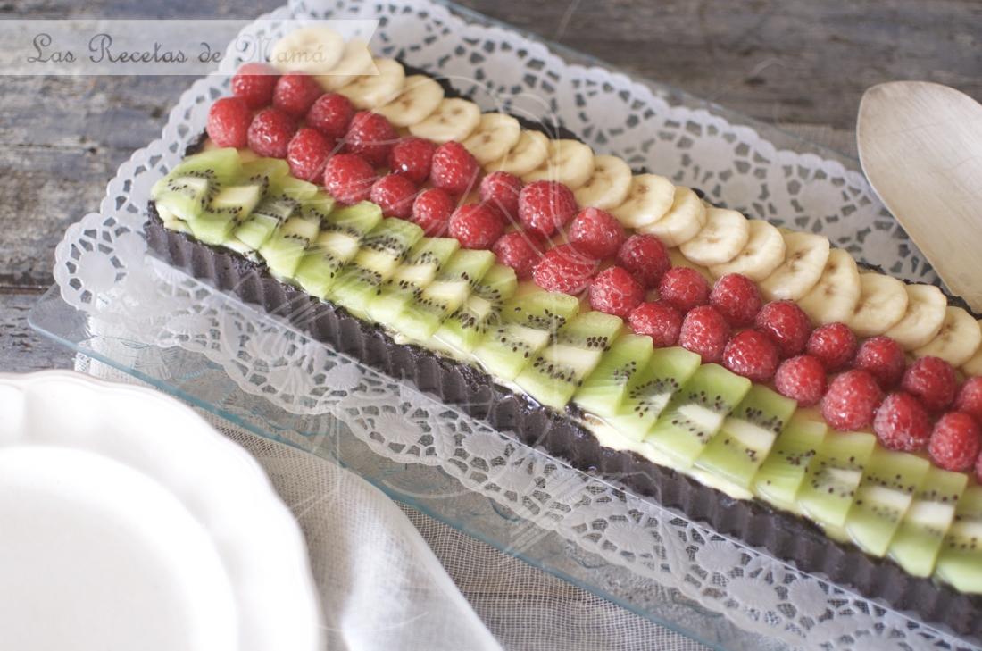 Tarta de crema y fruta. Video receta