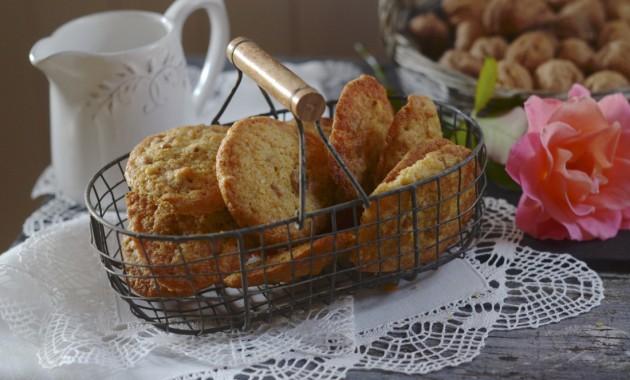 Cookies de nueces y caramelo. Video receta