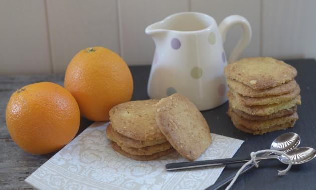 Galletas de naranja y almendra. Video receta