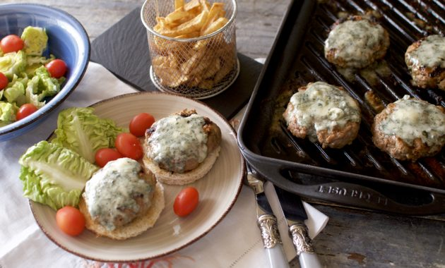 Hamburguesas al Roquefort. Video receta
