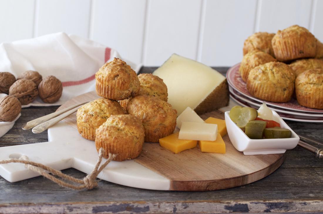 Magdalenas saladas de queso. Video receta