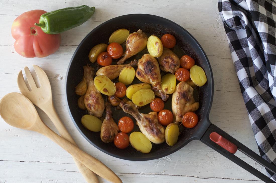 Muslitos de pollo gratinados. Video receta.
