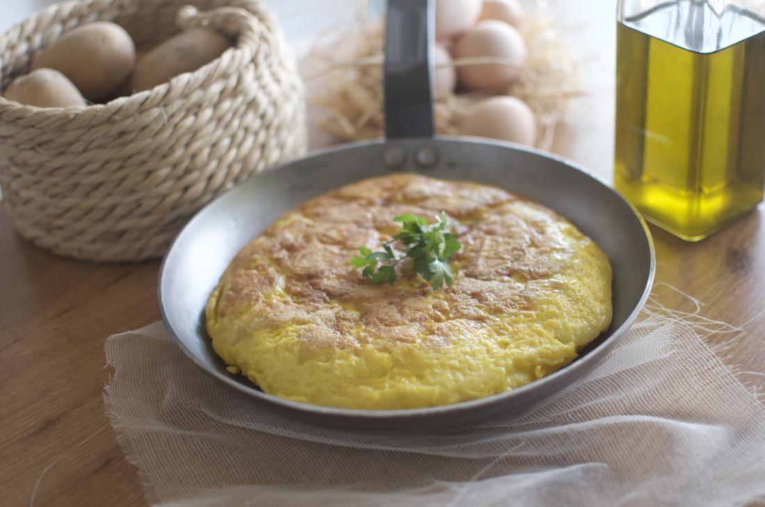 La sartén de hierro para tortillas